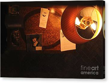 Canvas Print featuring the photograph On The Desk by Sherry Davis