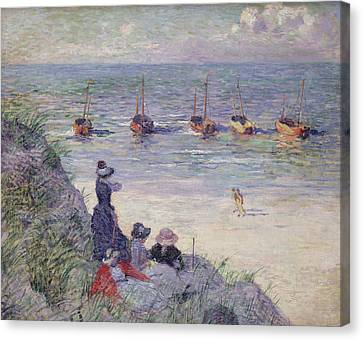 On The Dunes Canvas Print by Theo van Rysselberghe