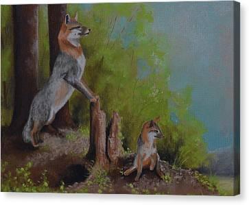 On The Edge Canvas Print by Sherri Strikwerda