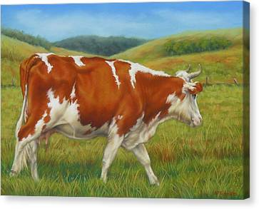 Canvas Print featuring the pastel On The Moove by Margaret Stockdale