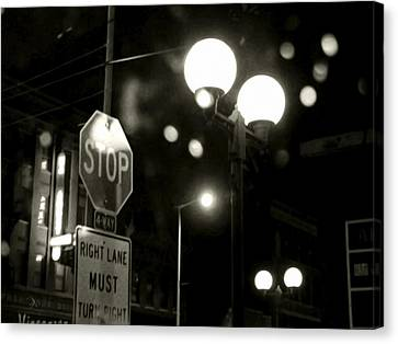 Stop Sign Canvas Print - On The Road 2 by Adam Vance