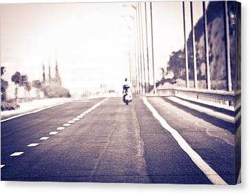 On The Road Canvas Print by Amr Miqdadi