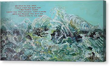 On The Rocks Canvas Print by Rita Brown