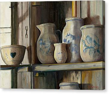 On The Shelf Canvas Print by Sheila Kinsey
