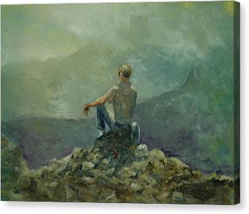 On The Top Of The Rockpile Canvas Print by Aline Lotter