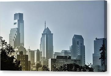 Philadelphia Phillies Canvas Print - On The Town - Philadelphia by Bill Cannon