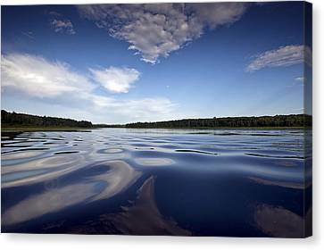 On The Water Canvas Print by Gary Eason