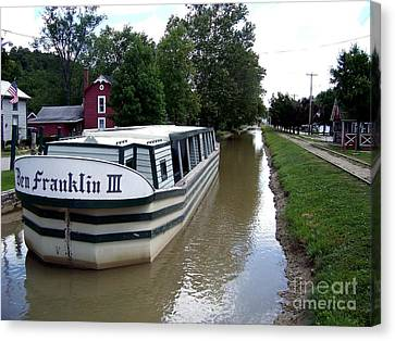On The Whitewater Canal Canvas Print