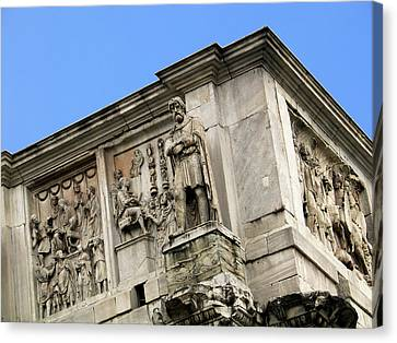 On Top Of The Arch Of Constantine Canvas Print