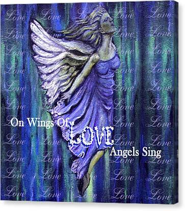 On Wings Of Love Angels Sing Canvas Print by The Art With A Heart By Charlotte Phillips