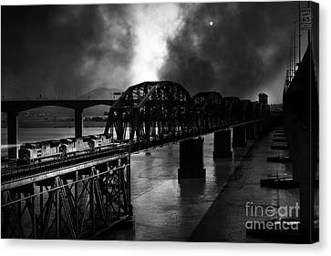 Once Upon A Time In The Story Book Town Of Benicia California - 5d18849 - Black And White Canvas Print by Wingsdomain Art and Photography