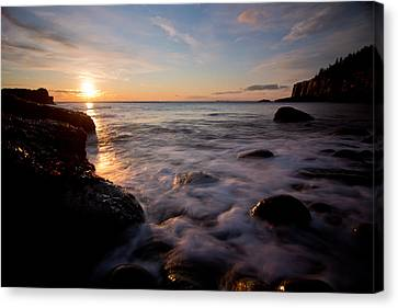 One And The Same In Maine Canvas Print by Chad Tracy