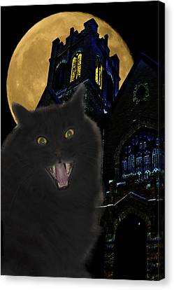 Haunted House Canvas Print - One Dark Halloween Night by Shane Bechler