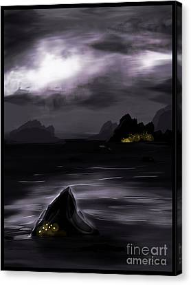 One Dark Night Canvas Print by J Kinion