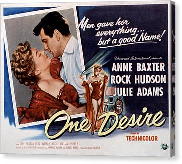One Desire, Anne Baxter, Rock Hudson Canvas Print by Everett