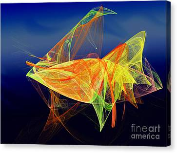 One Fish Rainbow Fish Canvas Print by Andee Design