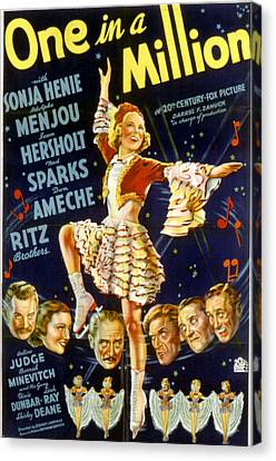 One In A Million, Sonja Henie, 1936 Canvas Print by Everett