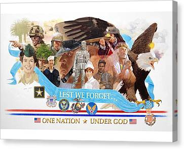 One Nation Under God Canvas Print by Chuck Hamrick