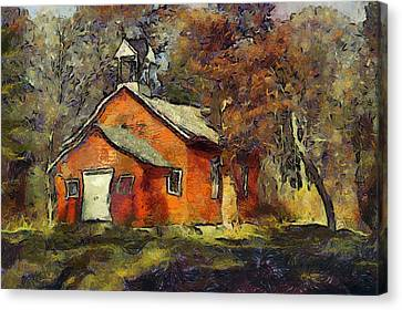 One Room School Canvas Print by Elaine Frink