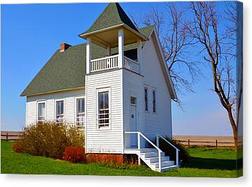 One Room School Houses Canvas Print - One Room School House No.2 by Christine Belt