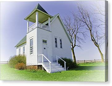 Country Schools Canvas Print - One Room School House No.3 by Christine Belt