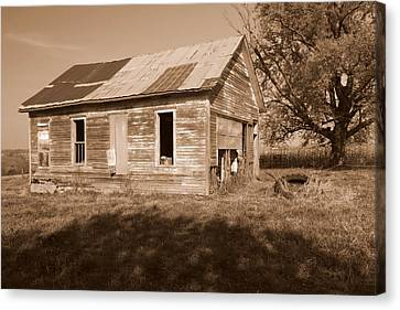 One Room School House Canvas Print by Rick Rauzi