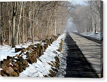 One Track Road Canvas Print