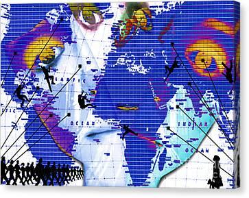 One Vs. World Canvas Print by Jenn Bodro