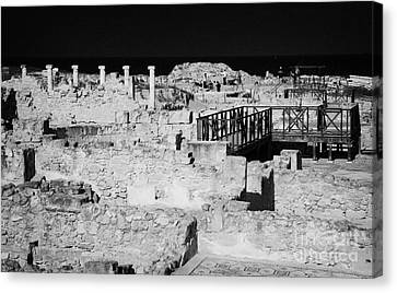 Ongoing Archeological Dig At The House Of Dionysos Roman Villa At Paphos Archeological Park Cyprus Canvas Print by Joe Fox