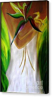 Canvas Print featuring the painting Only For You by AmaS Art