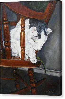 Canvas Print featuring the painting Oops by Lori Brackett