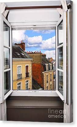 Open Window Canvas Print