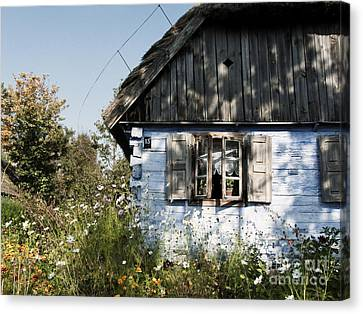 Canvas Print featuring the photograph Open Window On Late Summer Afternoon by Agnieszka Kubica