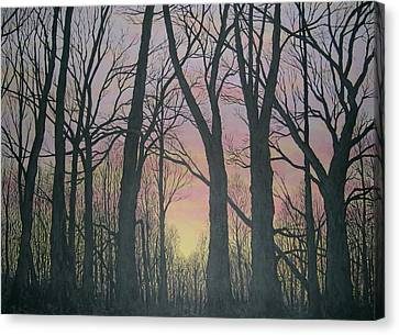Canvas Print featuring the painting Opening Day - Northern Hardwoods by Kathleen McDermott