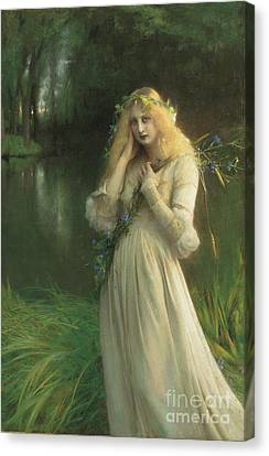 Blonde Canvas Print - Ophelia by Pascal Adolphe Jean Dagnan Bouveret