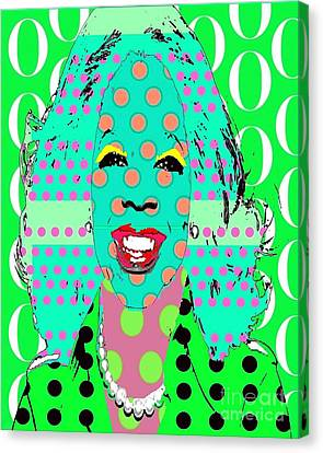 Oprah Canvas Print by Ricky Sencion
