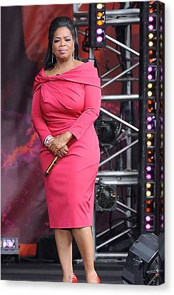 Oprah Winfrey At Talk Show Appearance Canvas Print by Everett