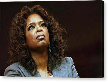 Kristin Callahan Canvas Print - Oprah Winfrey In Attendance For Barack by Everett