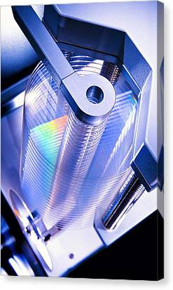 Optical Disc Production Machine Canvas Print by Richard Kail