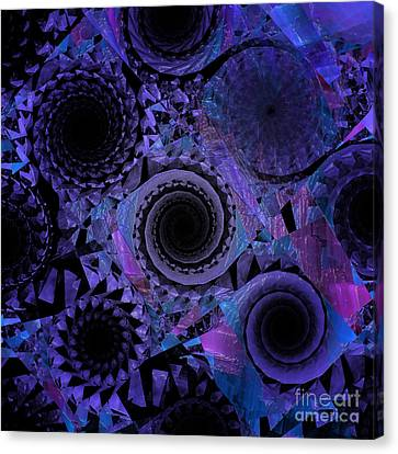 Future Tech Canvas Print - Optical Illusion by Andee Design