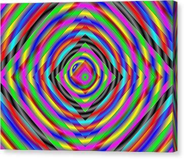Canvas Print featuring the digital art Optical Illusion by Mario Carini