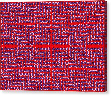 Optical Illusion Mark X Canvas Print by Sumit Mehndiratta