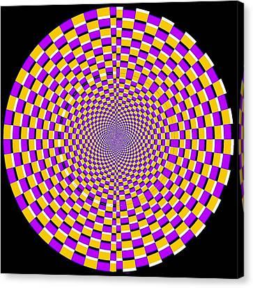 Optical Illusion Moving Cobweb Canvas Print