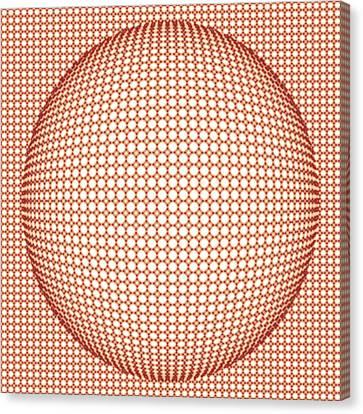Optical Illusion Orange Ball Canvas Print by Sumit Mehndiratta