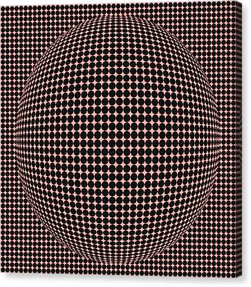 Optical Illusion Red Ball  Canvas Print by Sumit Mehndiratta