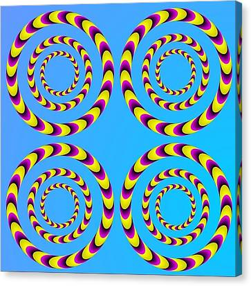 Optical Illusion Spinning Water Lilies Canvas Print