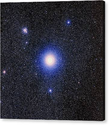 Optical Image Of The Star Mimosa, Or Beta Crucis Canvas Print by Celestial Image Co.