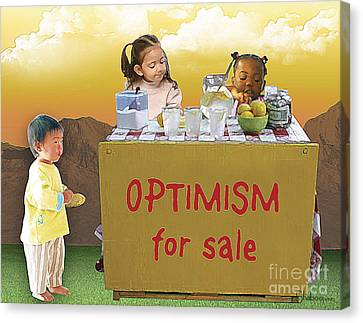 Optimism For Sale Canvas Print