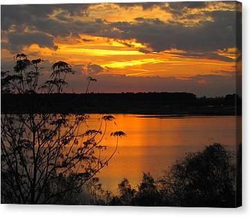 Orange Blue Sunset Canvas Print