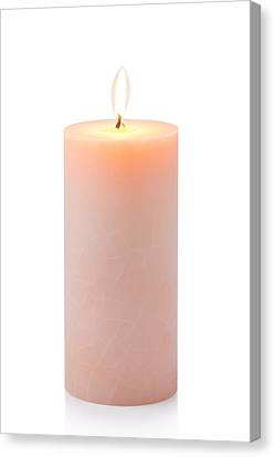 Orange Candle Canvas Print by Atiketta Sangasaeng